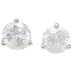 2 Carat Total Weight Diamond Stud Earrings