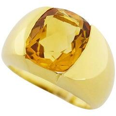 Antonini Citrine Ring 18 Karat Yellow Gold