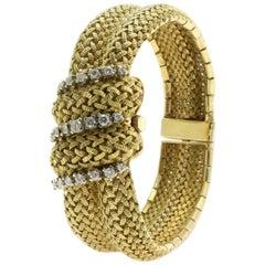 Mid 20th Century Yellow Gold Diamond Wristwatch
