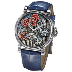 Butterfly Blue Micromosaic Automatic Movement Watch