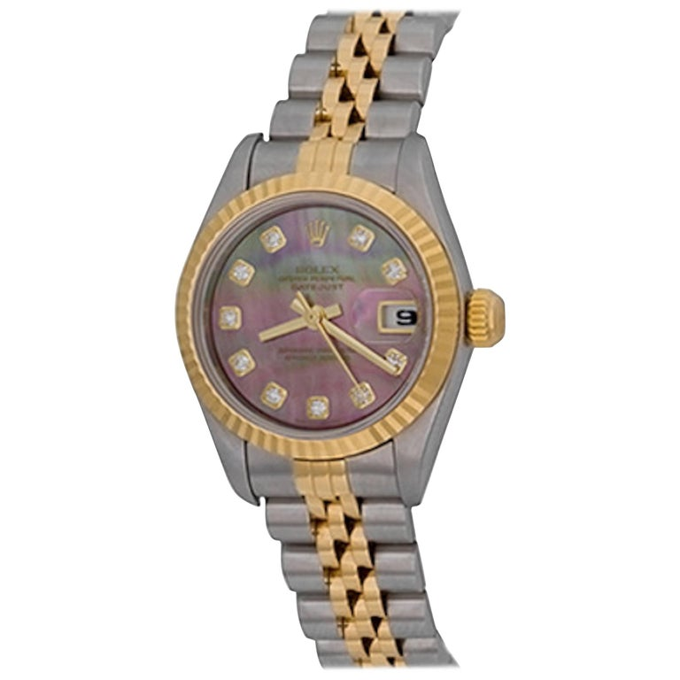 Rolex Ladies Datejust with Mother-of-Pearl Diamond Dial Ref 179173 In Stock