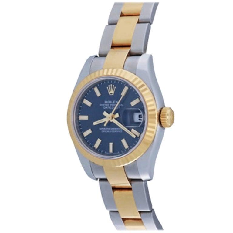 Rolex Ladies Datejust in 18 Karat Yellow Gold and Stainless Steel Ref 179173
