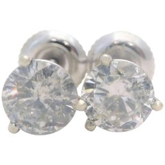 2.12 Carat Total Weight Diamond Stud Earrings