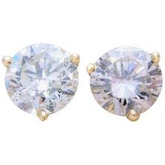 2.40 Carat Total Weight Diamond Stud Earrings