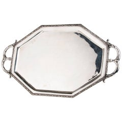 Solid Silver 800‰ Art Deco Tray Poland, circa 1920