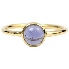 Julius Cohen Gold and Cabochon Iolite Ring