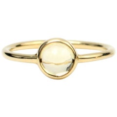 Julius Cohen Gold and Cabochon Beryl Ring