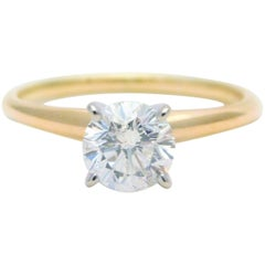 1.23 Carat Round Brilliant-Cut Diamond Solitaire Engagement Ring