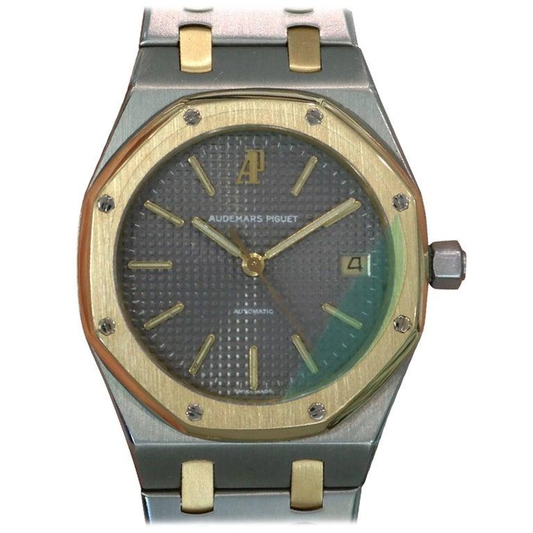 Audemars Piguet Yellow Gold Stainless Steel Royal Oak Automatic Wristwatch