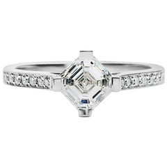 Cushla Whiting 'Rita' GIA Certified 1.08 Carat Diamond, Art Deco Style Ring