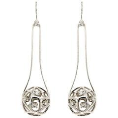 Diamonds White Gold Earrings Modern