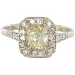 Modern 1.40 Carat Champagne Diamond White Gold Ring