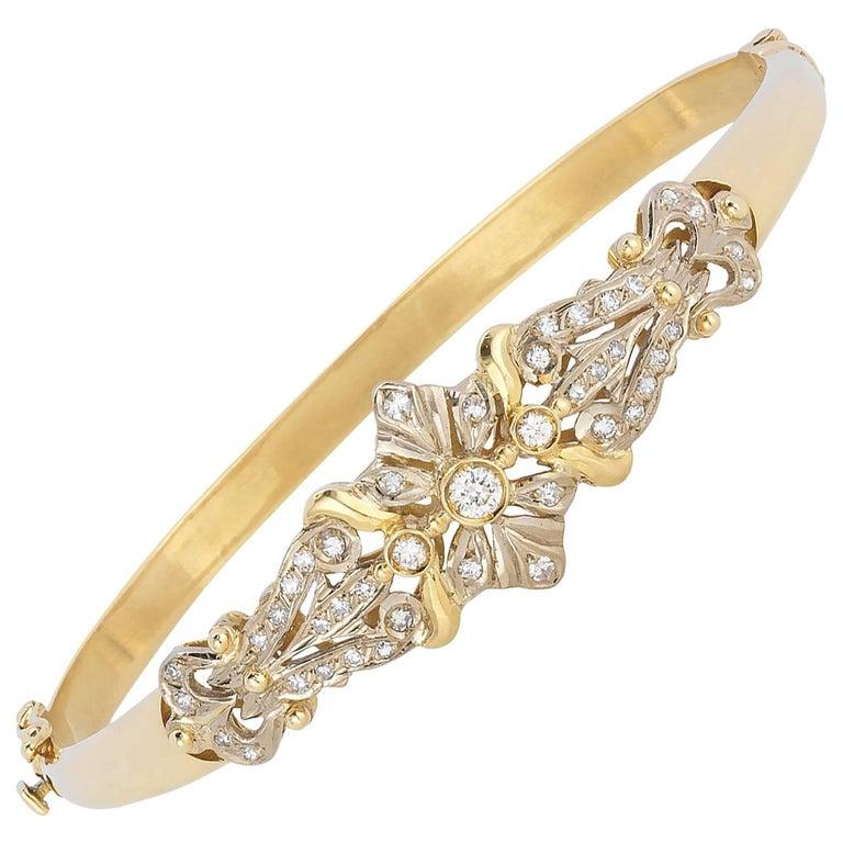 1960s Estate Diamond Bangle Bracelet