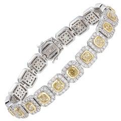 18 Karat Yellow and White Diamond Bracelet