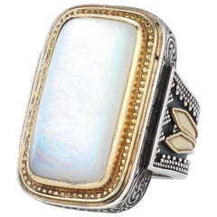 Konstantino Two-Tone Mother-of-Pearl Ring