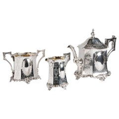 Exceptional Sterling Silver '925‰' Tea Service, Joseph Angell & Son, 1845-1846