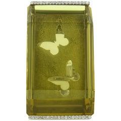 White Gold Lemon Quartz Ring