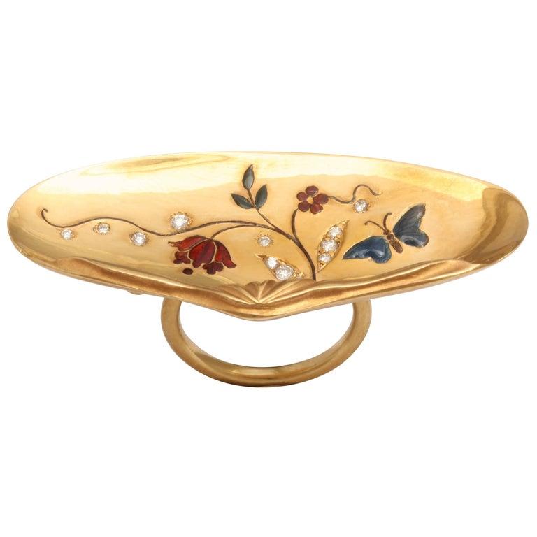 Rebecca Koven Gold Shell Ring