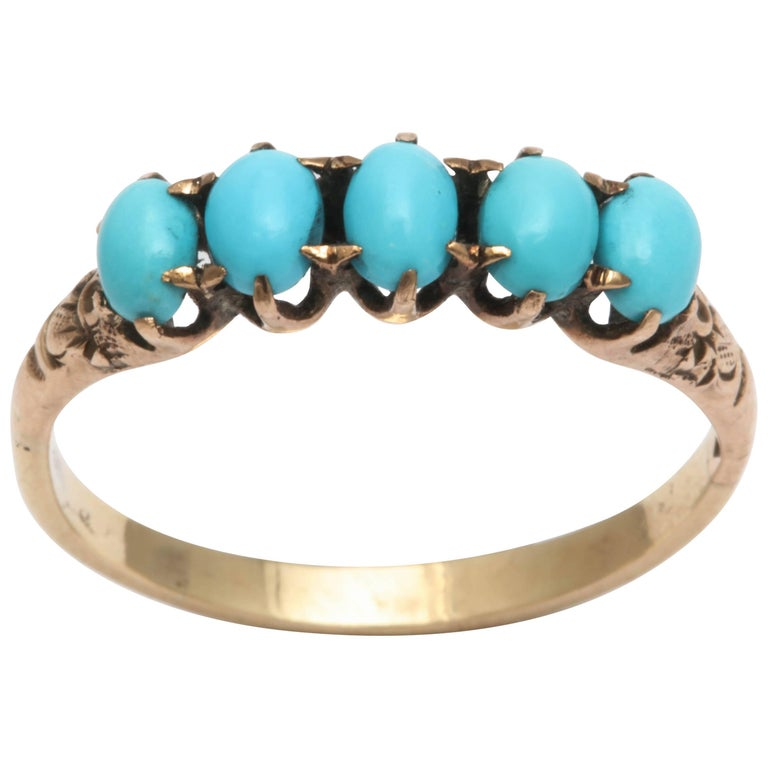 Victorian Five-Stone Turquoise Ring