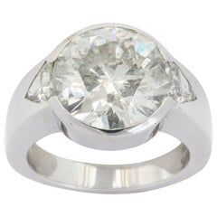 10 Carat Round Diamond Men's Ring