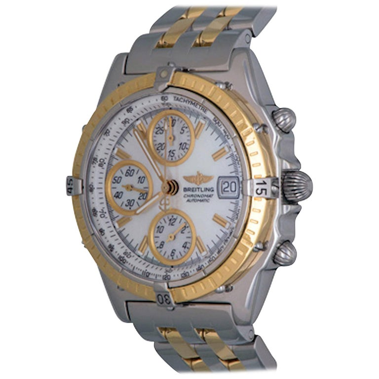 Breitling Yellow Gold Stainless Steel Chronomat Chronograph Automatic Wristwatch