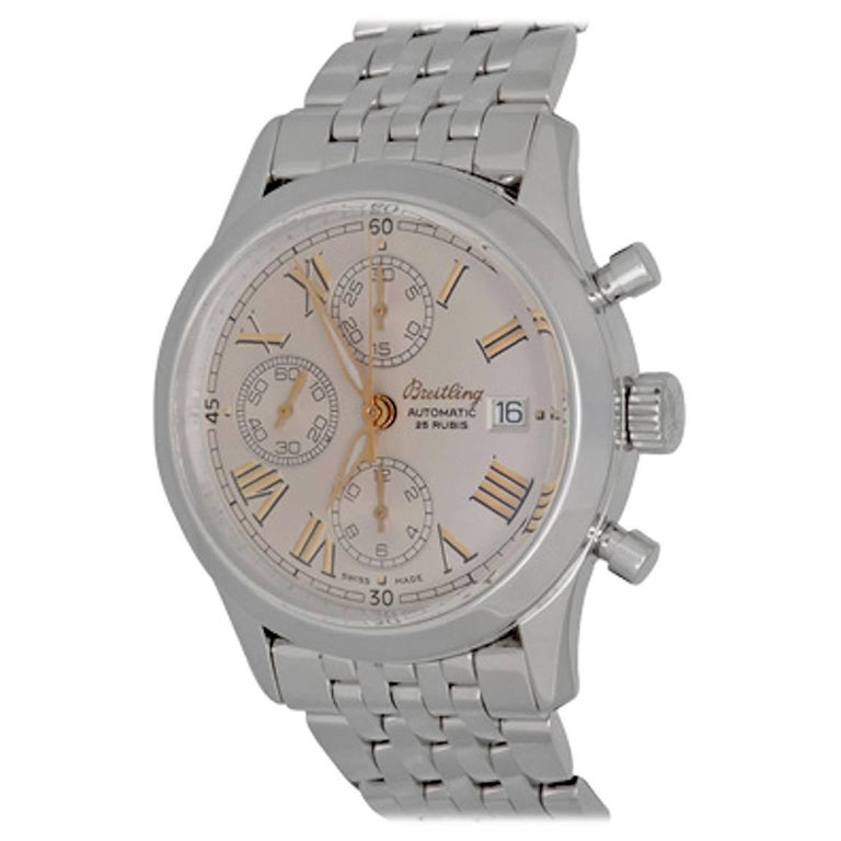 Breitling Stainless Steel Grand Premier Chronograph Automatic Wristwatch