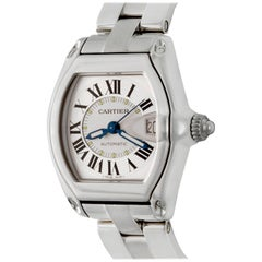 Mens Cartier Roadster Stainless Steel Automatic Wristwatch Ref W62025V3 In Stock