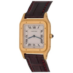Cartier Yellow Gold Santos Midsize Manual Wind Wristwatch