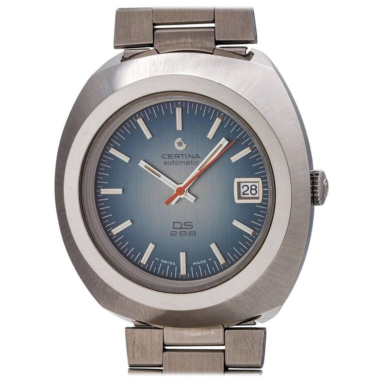 Certina Stainless Steel Automatic Wristwatch Ref DSS 288, circa 1970s