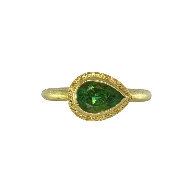 Luca Jouel Green Tourmaline and Gold Dress Ring