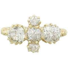 1890s Diamond and Yellow Gold Dress Ring