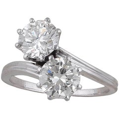 Twin-Stone Old European Cut Diamond Ring
