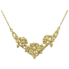 1920s Antique French Yellow Gold Necklace