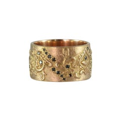 Luca Jouel Black Diamond Rose Gold Lotus Cigar Band
