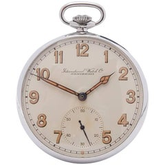 IWC Pocket Watch Military Stainless Steel Gents C.67, 1937