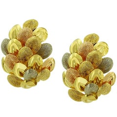 Three Colors of Gold Autumn Earrings
