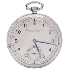 IWC Pocket Watch Art Deco Stainless Steel Gents C.671937