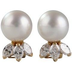 Pearl and Diamonds Earrings