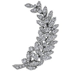 Tiffany & Co. 1980s Diamond Floral Brooch