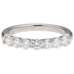 Estate Tiffany & Co. Platinum 0.83 Carat Diamond Anniversary Band Ring