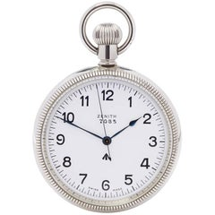 Zenith Pocket Watch Military Stainless Steel Gents 7082