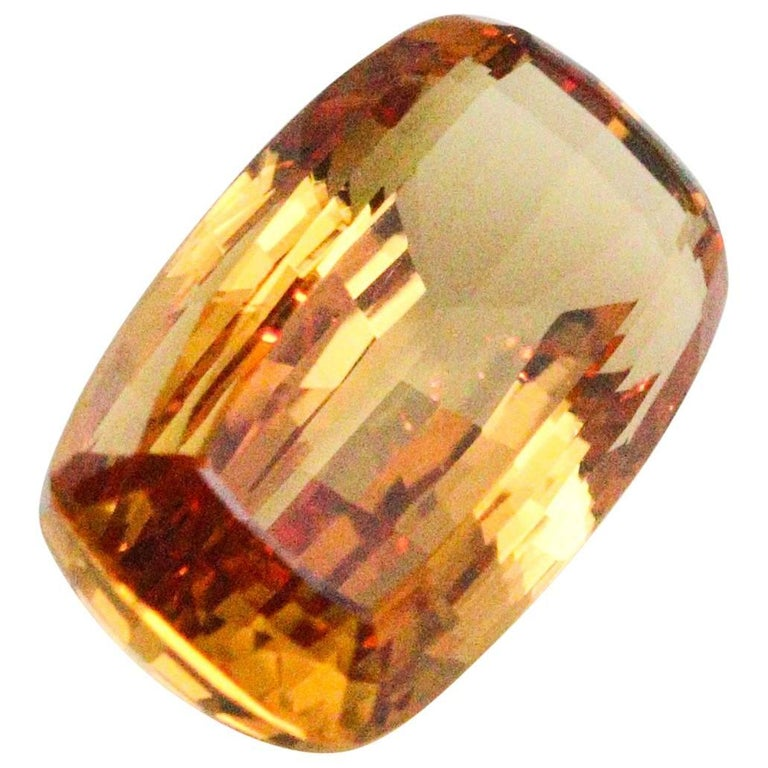 32.18 Carat GIA and PGS Certified Cushion Cut Imperial Topaz