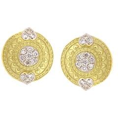 Stambolian Gold and Diamond Earrings