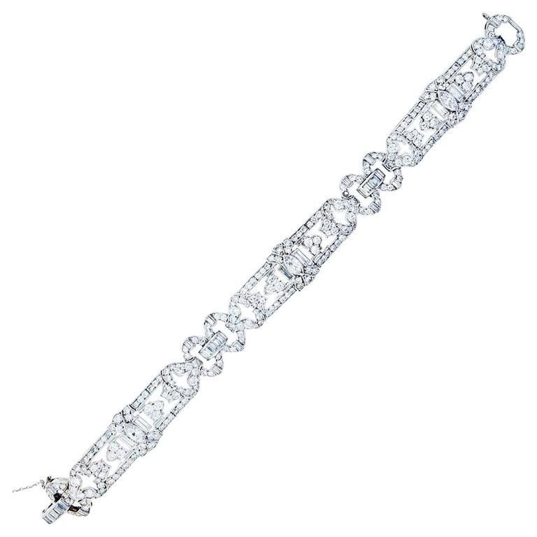 J.E. Caldwell Mixed Cut Diamond Bracelet