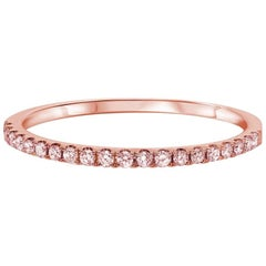 Pink Diamond Pave Band in Rose Gold