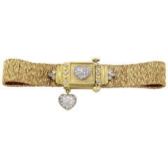 Stambolian Gold and Diamond Bracelet with Hearts