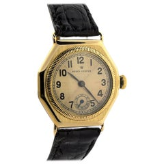 Rolex Yellow Gold Oyster Vintage Octagon Manual Wristwatch circa 1936