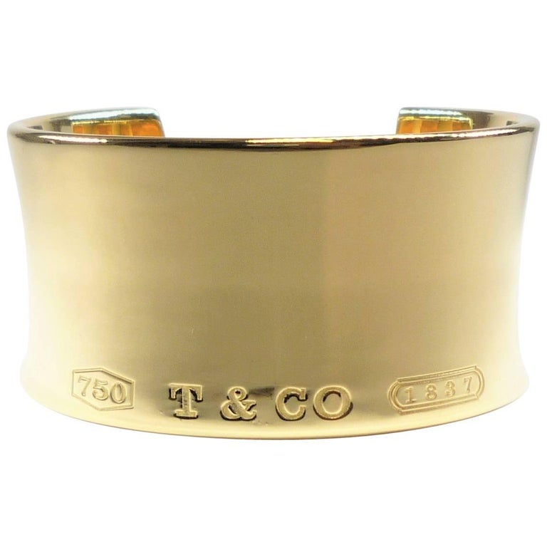 Tiffany & Co. Wide Cuff in Yellow Gold