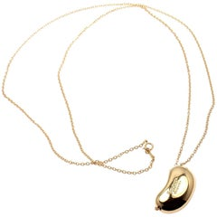 Tiffany & Co. Elsa Peretti Large Bean Yellow Gold Chain Necklace
