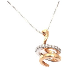 Damiani Eden Diamond White and Rose Gold Necklace